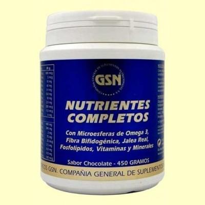 Nutrientes Completos Chocolate - 450 gramos - GSN Laboratorios