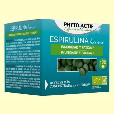 Espirulina Hierro Bio - 120 comprimidos - Phyto Actif