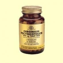 Cromo Polinicotinato 200 ug sin levadura - Solgar - 50 cápsulas vegetales