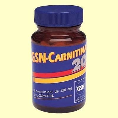 GSN Carnitina 20 - 80 comprimidos - GSN Laboratorios