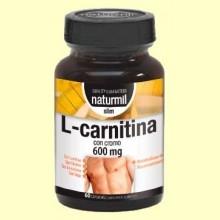 L-Carnitina con Cromo 600mg - 60 cápsulas - Naturmil