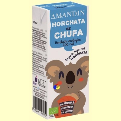 Horchata de Chufa Infantil Bio - 200 ml - Amandin
