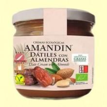 Crema de Dátiles con Almendras Bio - 330 gramos - Amandin