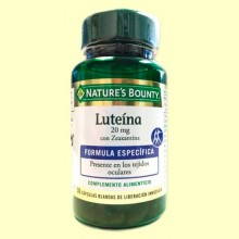 Luteína 20 mg con Zeaxantina - 30 cápsulas - Nature's Bounty