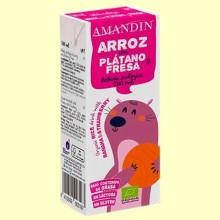 Bebida de Arroz con Plátano y Fresa Eco - 200 ml - Amandin