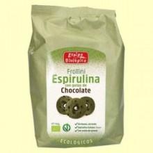 Frollini Espirulina con gotas de Chocolate Eco - 150 gramos - Espiga Biológica