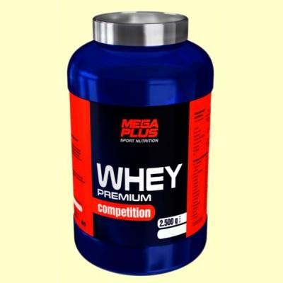 Whey Premium Competition Fresa - Crecimiento Muscular - 2,5 kg - Mega Plus