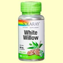 White Willow Back - Sauce Blanco - 100 cápsulas - Solaray