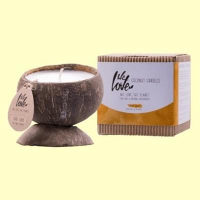 Vela de Cera de Soja Cocconut Candle Cool Coco - 1 unidad - We love the planet