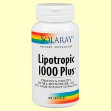 Lipotropic 1000 Plus - 100 cápsulas - Solaray