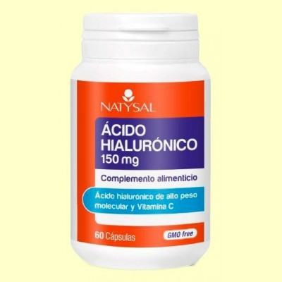 Ácido Hialurónico 150 mg - 60 cápsulas - Natysal