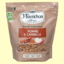 Muesli Crunchy de Manzana y Canela Bio - 500 gramos - Favrichon