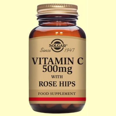 Rose Hips C 500 mg - Vitamina C - Solgar - 100 comp.