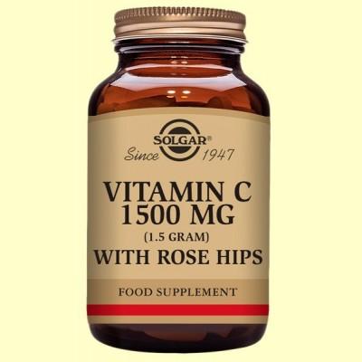 Rose Hips C 1500 mg - Vitamina C - 180 comprimidos - Solgar