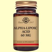 Acido Alfa Lipoico 60 mg. 30 vegicaps de SOLGAR