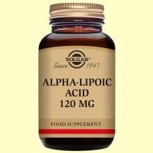 Acido Alfa Lipoico 120 mg. 60 vegicaps de SOLGAR