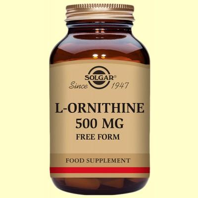 L-Ornitina 500 mg - Aminoácidos - Solgar - 50 cápsulas