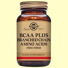 BCAA Plus - Aminoácidos - 50 cápsulas - Solgar