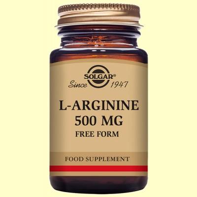 L-Arginina 500 mg - Solgar - Aminoácidos - 50 Vegicaps