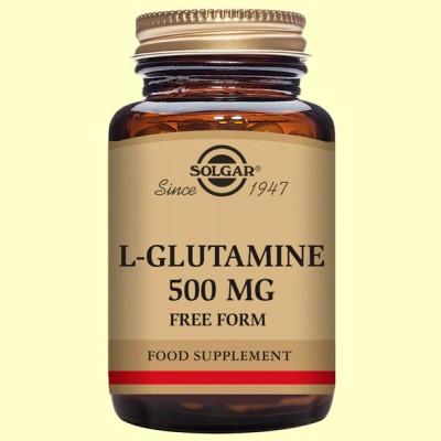 L-Glutamina 500 mg - Aminoácidos - Solgar - 50 cápsulas