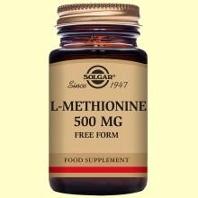 L-Metionina 500 mg - Aminoácidos - 30 cápsulas - Solgar