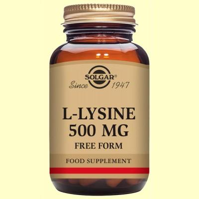 L-Lisina 500 mg - Aminoácidos - Solgar - 50 cápsulas