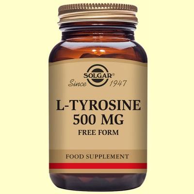 L-Tirosina 500 mg - Aminoácidos - Solgar - 50 cápsulas