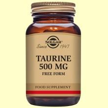 Taurina - 50 Cápsulas vegetales - 500 mg de Solgar