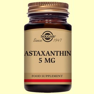 Astaxantina 5 mg - 30 cápsulas blandas - Solgar