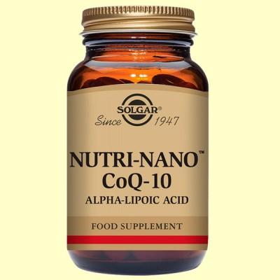 Nutri Nano Coenzima Co Q-10 con Ácido alfa lipoico - 60 cápsulas - Solgar