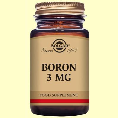 Boro 3 mg - 100 cápsulas - Solgar