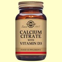 Citrato de Calcio con Vitamina D - Solgar - 60 comp.