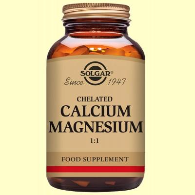 Calcio - Magnesio Quelado 1:1 - Solgar - 120 comprimidos