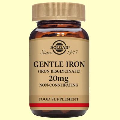Hierro Gentle bisglicinato 20 mg- 180 cápsulas - Solgar