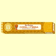Incienso de Masala Artesanal Copal y Mirra - 15 sticks - Haris Darshan