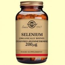 Selenio 200 ug - Sin levadura - 50 comprimidos - Solgar