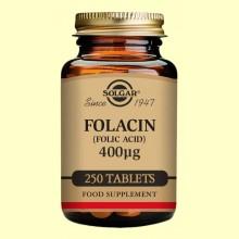 Folacín (Ácido fólico) 400 ug - Vitamina B9 - Solgar - 250 comp