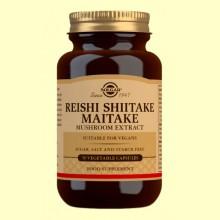 Reishi - Shiitake - Maitake - Solgar - 50 cápsulas