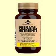 Nutrientes Prenatales - Para mujeres - Solgar - 60 com.