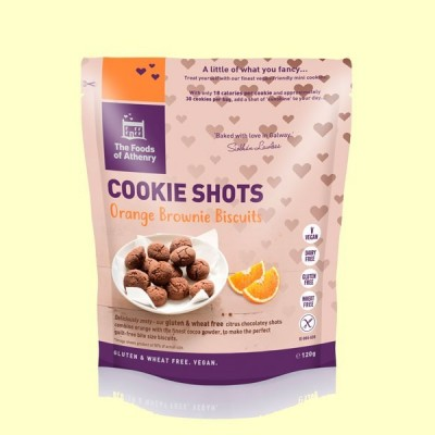 Mini Cookies Brownie de Naranja Sin Gluten - 120 gramos - The Foods of Athenry