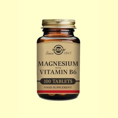 Magnesio con Vitamina B6 - Solgar - 100 comprimidos
