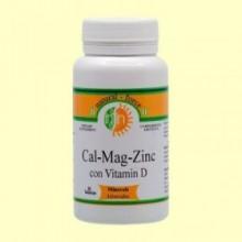 Cal-Mag-Zinc + Vitamina D - Nutri Force - 90 Perlas