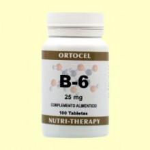 Vitamina B-6 - 100 Tabletas - Ortocel