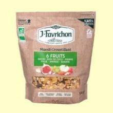 Muesli Crunchy 6 Frutas - 500 gramos - Favrichon