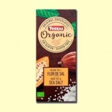 Chocolate Negro 70% con Flor de Sal Bio - 100 gramos - Torras