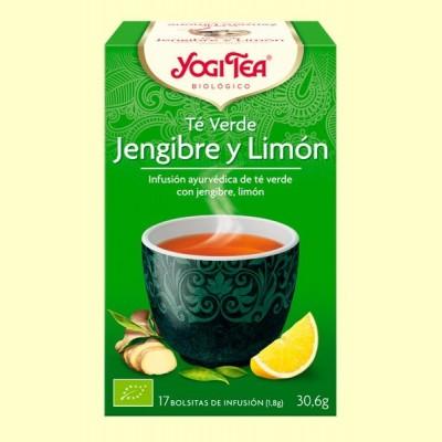 Té Verde Jengibre y Limón Bio - 17 infusiones - Yogi Tea