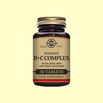 Ultimate B+C Complex - 30 comprimidos - Solgar