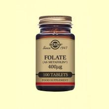 Folato (Metafolin®) 400 µg - 100 comprimidos - Solgar