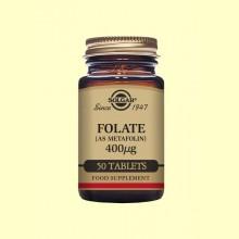 Folato (Metafolin®) 400 µg - 50 comprimidos - Solgar