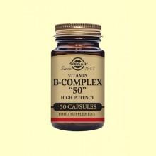 Vitamina B-Complex 50 - 50 cápsulas - Solgar